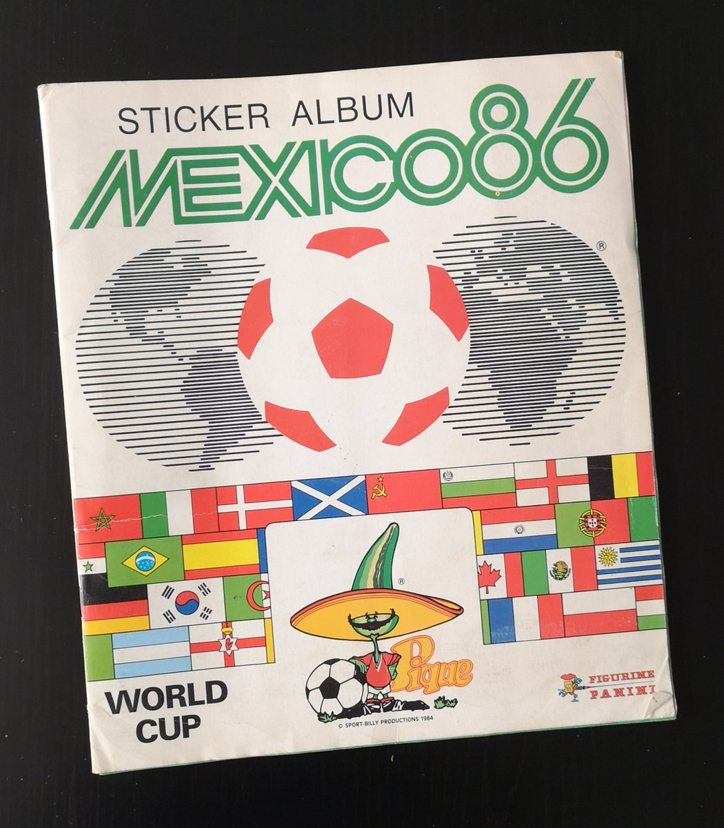 Mexico 1986 World Cup Sticker Album. Fully Completed #Maradona #Mexico86 #WorldCup