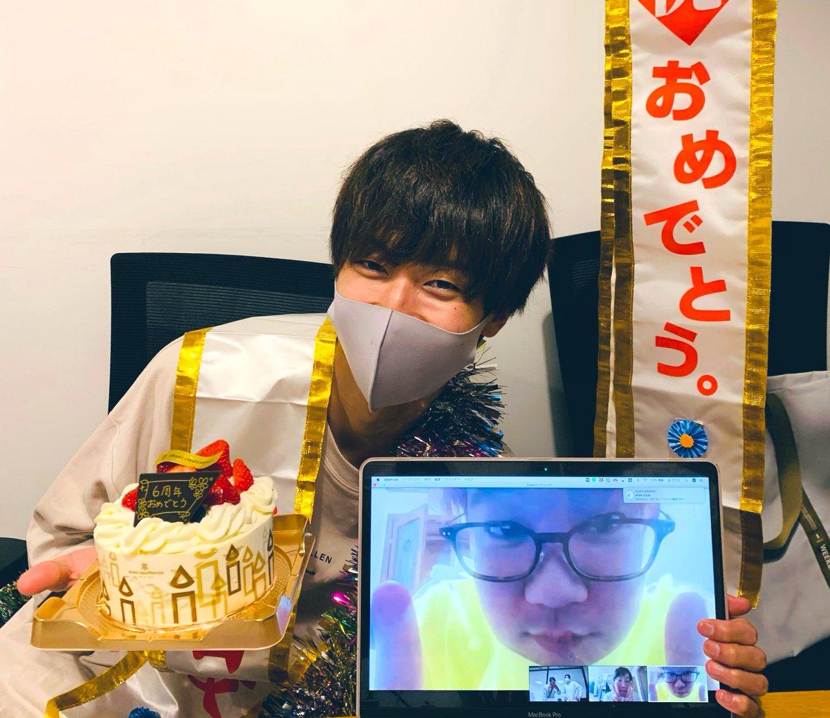 はなでん6周年です!!!!いつのまにか小学生が中学生になるほど時が経ってしまったようです👏中学生も頑張ります😜(東京で会議中にお祝いしてくれました。でんがんはリモート遺影スタイルで)