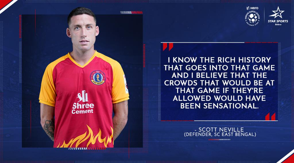 The fans will be missed, but the intensity and passion will remain! 💪  #SCEB fans, show us your matchday gear 👇 and get set for #SCEBATKMB. 🍿  ⌛: Tonight, 7 PM 📺: Star Sports, Disney+Hotstar VIP & Jio TV  #HeroISL #KolkataDerby