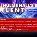 Image for the Tweet beginning: HULME HALL'S GOT TALENT!