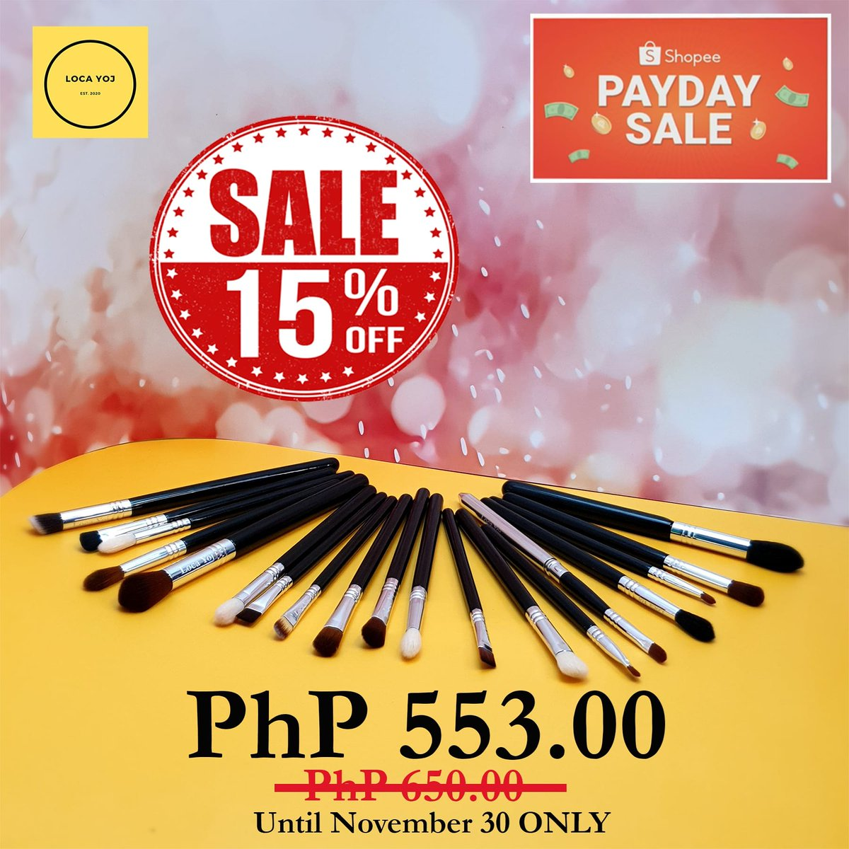 ‼️ HURRY AND ADD TO CART NOW‼️ Until November 30, 2020 ONLY  Shopee Store:  📦 COD Available  #wemaketoday #shopeefinds #shopeeseller #shopeeph #1212shopee #1212sale #wemaketoday #brushesph #brushph #eyemakeupbrushes #hellofrom #philippines #sharewithpride