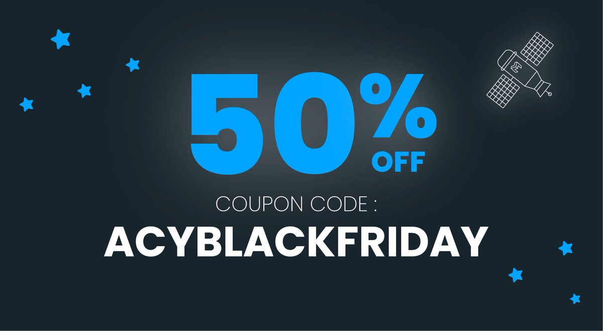 #BlackFriday deals:  💥Get 50% OFF on our website! Code:  ACYBLACKFRIDAY   💥Free licences to win!   RT this tweet if you think AcyMailing is the best #Joomla & #WordPress #newsletter plugin to get yours! 😉  Available until midnight, don't miss it!   👉