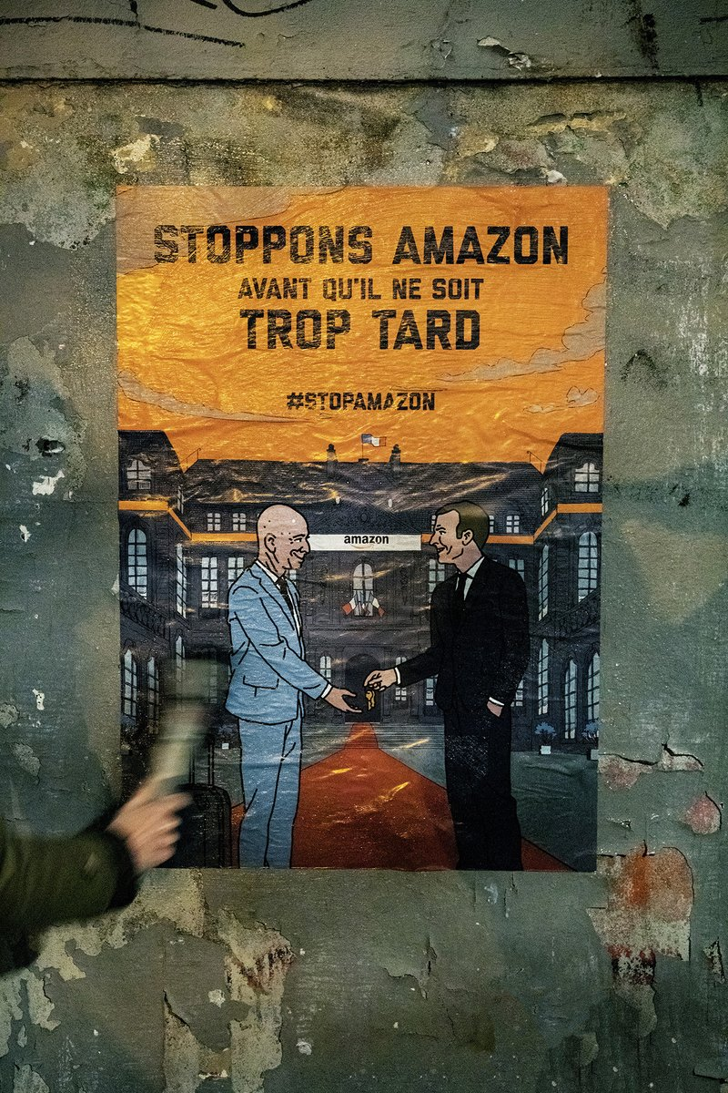 Le #confinement met des milliers de commerces traditionnels sur la paille et #Amazon en profite pour étendre sa toile. #StopAmazon #AmazonMacronComplice   @StanGuerini @auroreberge @GillesLeGendre @LauSmartin @MarieLebec78 @LaREM_AN ce #thread est pour vous 👇🏽 https://t.co/RyaVy60o0w
