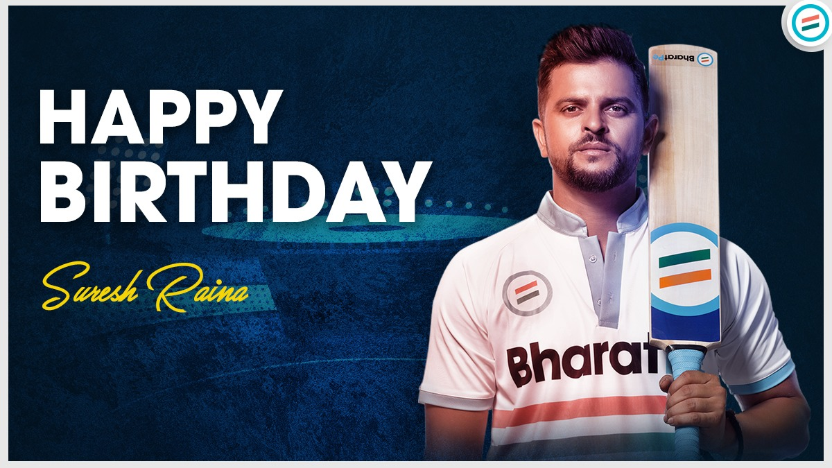 In cricket and in life, your presence inspires confidence. It's great to have you in #TeamBharatPe.  Here's wishing you a very Happy Birthday! @ImRaina #happybirthday #sureshraina #chinnathala #wishes #cricketstars #cricketfansindia #CricketSeason #sureshrainafans #rainafans