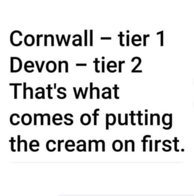 Saw this and it made me smile 😊 what is first 🤔 #cream #jam #Devon #Cornwall