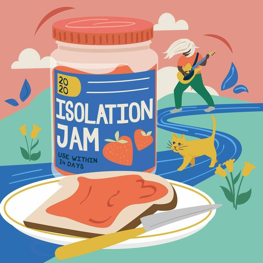 Following on from Lockdown Brew, I present Isolation Jam! (Brace yourselves, I have a few of these planned...) .-.-.-.-.-.-.-.-.-.-.-.-.-.-.-.-.-.-.-.-.-.- #isolation #2020 #jam #packaging #lockdown #illustration #illustrator #illustrationartists #ukillu…