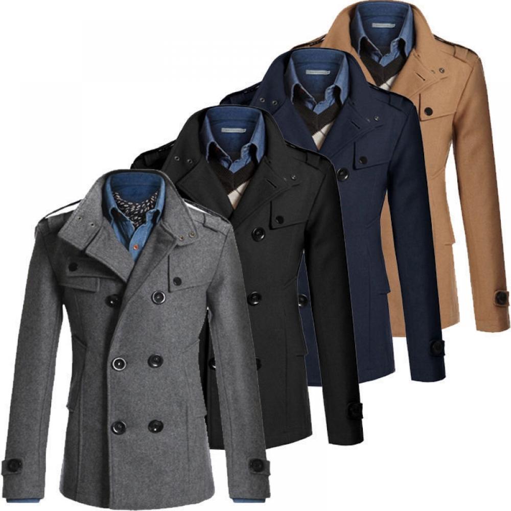 #l4l #likes #instamood #tflers #fun #instafollow Men's Classic Winter Double Breasted Coat