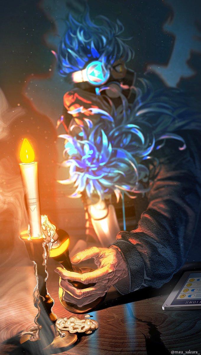 蝋燭とLED #twstファンアート