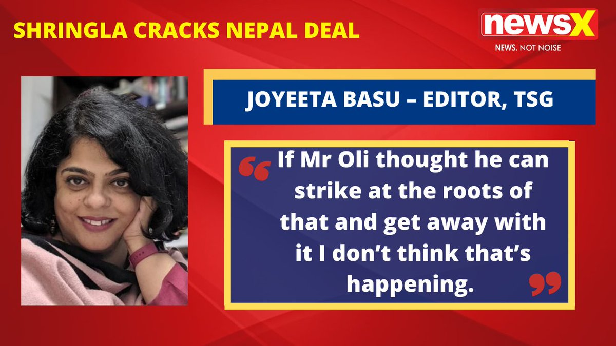 #MissionSaveNepal |  If Mr Oli thought he can strike at the roots of that and get away with it I don't think that's happening. : Joyeeta Basu – Editor, TSG (@joyeetabasu) on #NewsX  @malhotravineet7