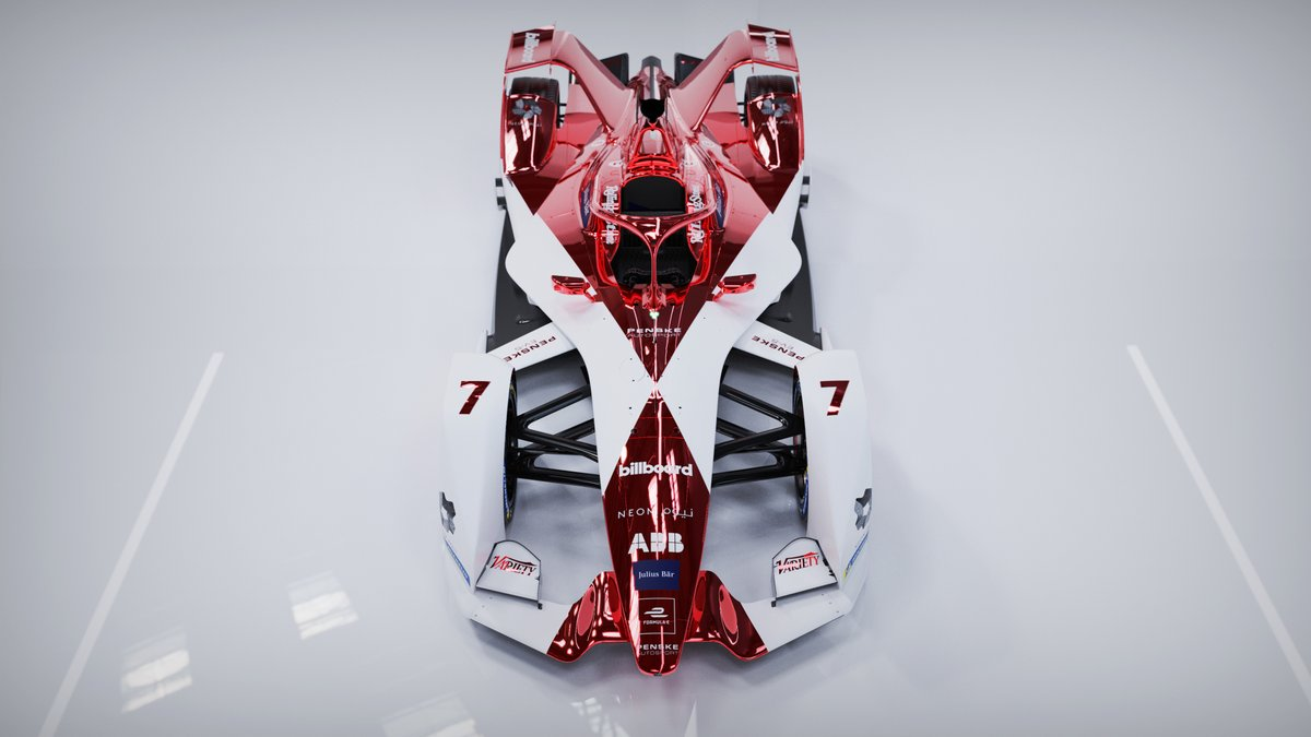 Here it is: the Season 7 Livery Design for DRAGON / PENSKE AUTOSPORT  Bringing back the red chrome for @DragonRacing_FE  2021: geometric diamond with a matte white base: cannot wait to see this under the light in the first Formula E Night Race!  #FormulaE #Dragon #PenskeAutosport https://t.co/y9dNrNJhdE
