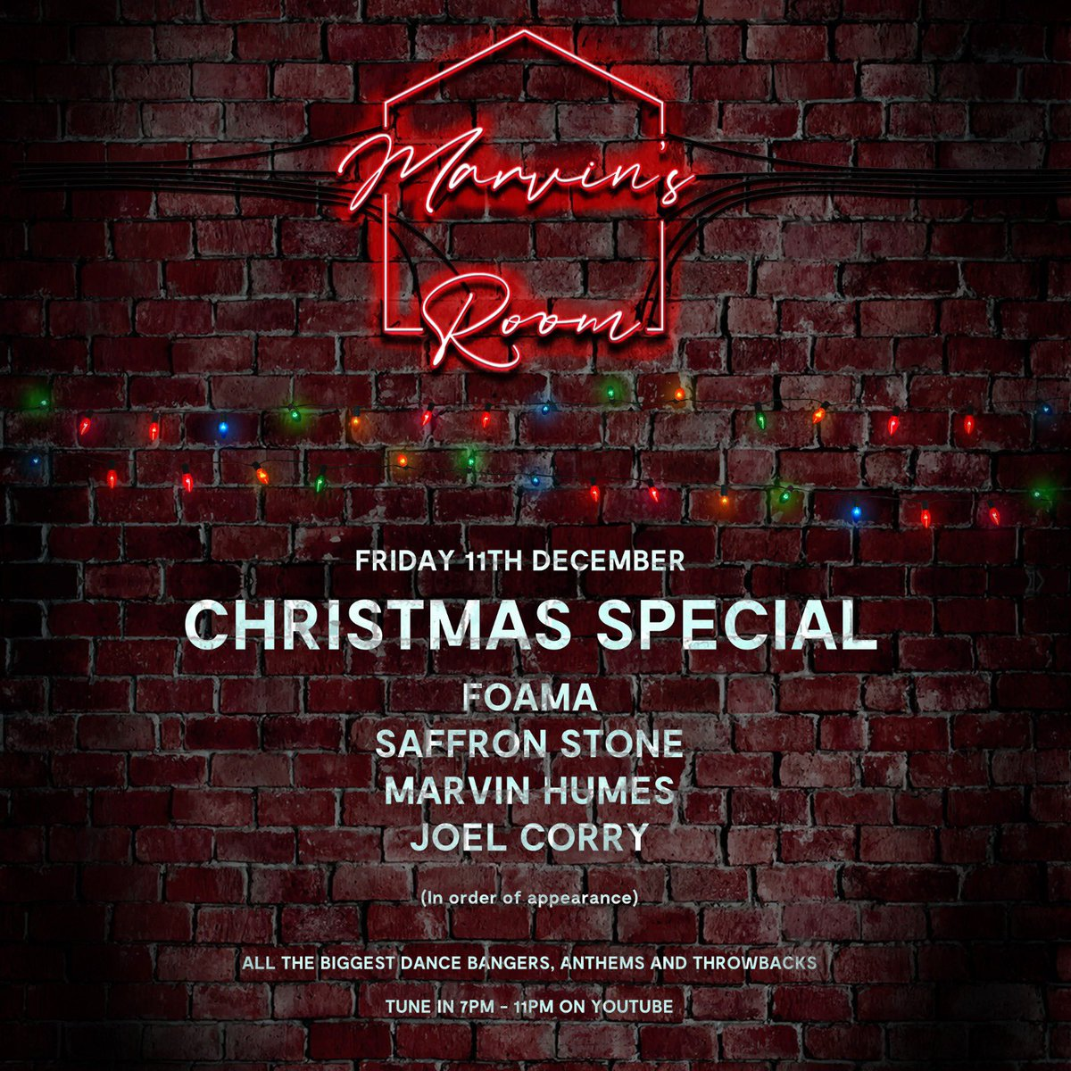 We are back! #MarvinsRoom December 11th Xmas special! Click here to subscribe