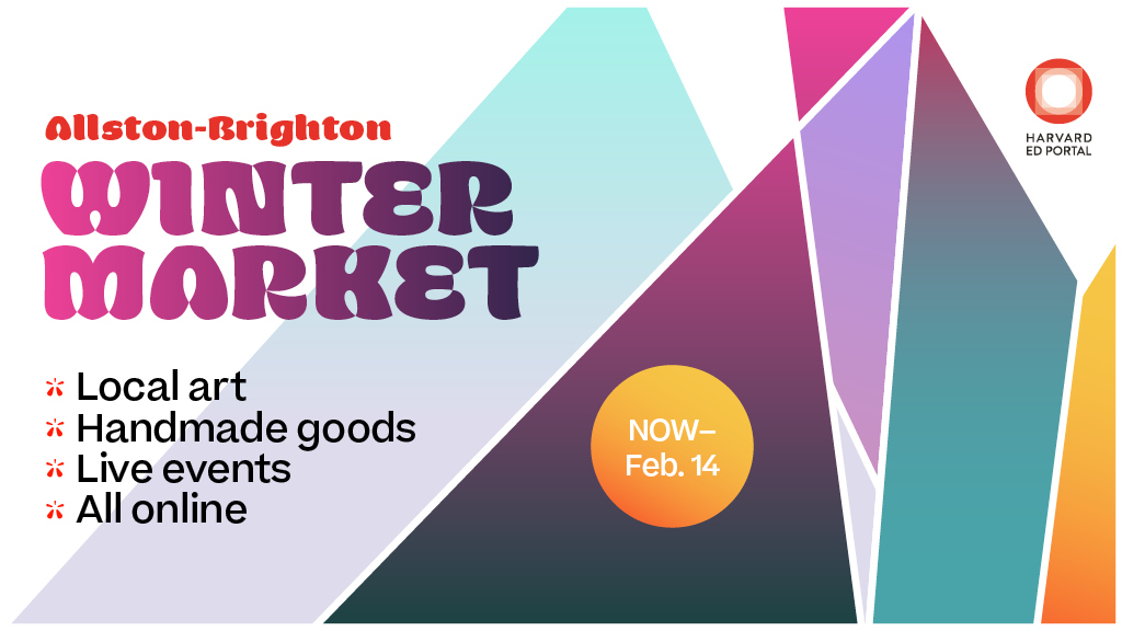 Shop local and support artists this holiday season - check out the virtual Allston-Brighton Winter Market!