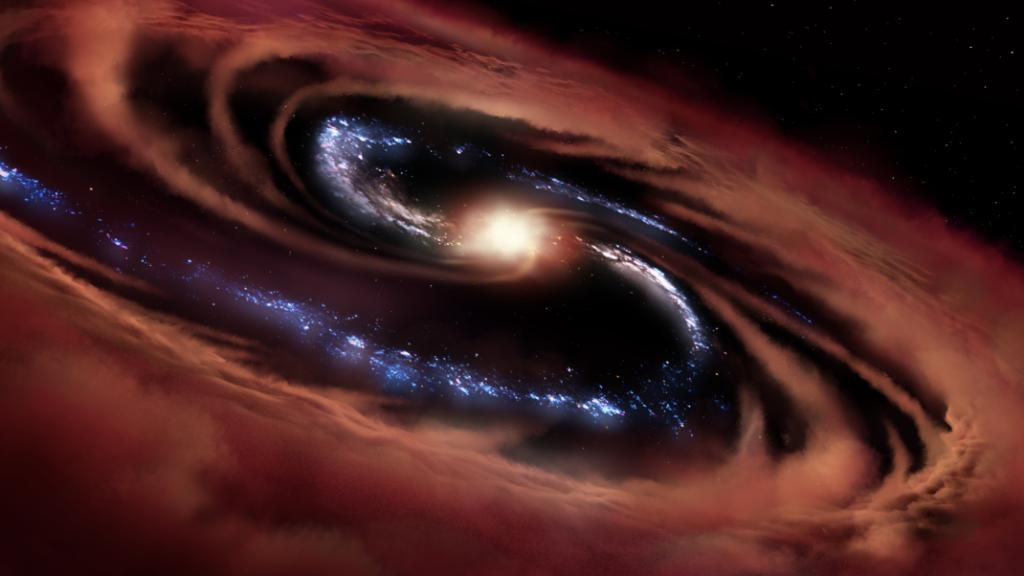 It's #BlackHoleFriday and we found a galaxy that is surviving a black hole's feast, at least for now. ✨   The discovery is causing scientists to rethink their theories of galactic evolution. Learn more: https://t.co/unoGxIu4pg https://t.co/amfXOgXkxZ