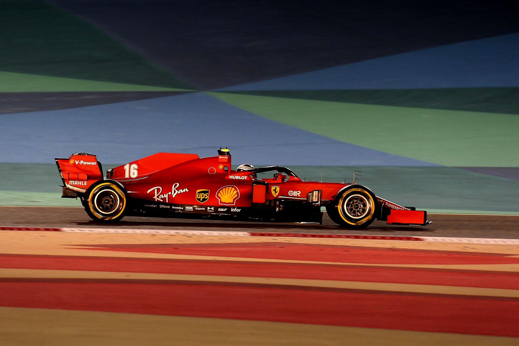 "Scuderia Ferrari on Twitter: ""#FP2 restarts in 30 seconds. #BahrainGP🇧🇭… """