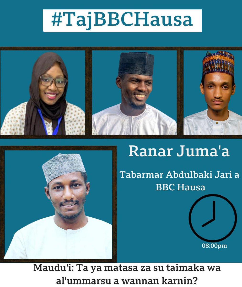 Tonight at 8pm. @Bahaushee is hosting us on his #tajbbhausa program. Stay tuned.
