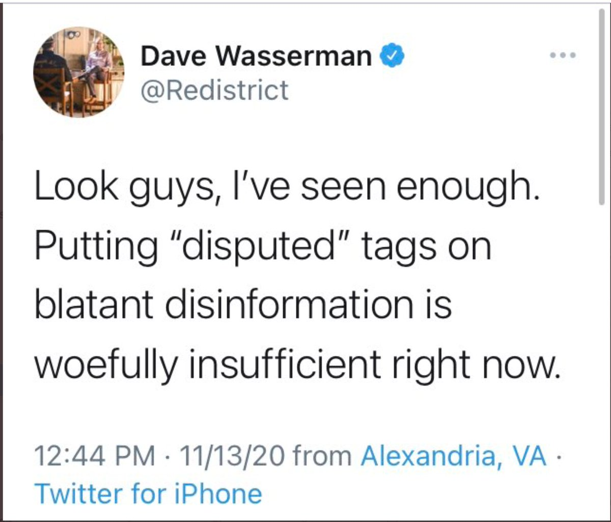 "@waltshaub Putting ""disputed"" tags on Trump's false Tweets is insufficient and dangerous. Twitter executives: Please revise @policy.  CC: @Delbius @moniqueMeche @yoyoel @jack"