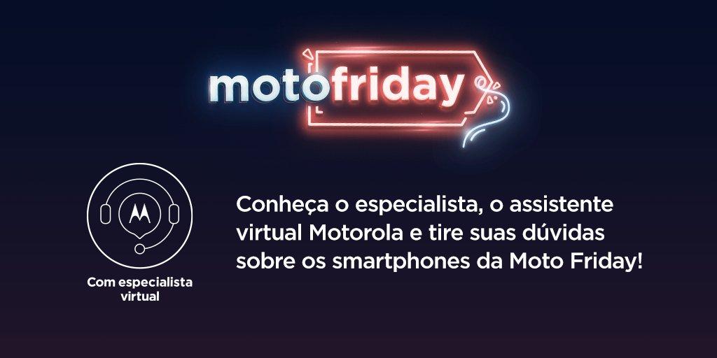 Quer dicas para saber como escolher seu Motorola na nossa #MotoFriday? Consulte o assistente virtual no site e tire suas dúvidas! Acesse https://t.co/Op5BcJIz9g e saiba mais. Serviço válido para a família edge, motorola razr e moto g 5G plus. https://t.co/iCi7xD006r