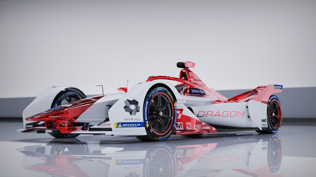 DRAGON / PENSKE AUTOSPORT is pleased to reveal our livery and introduce our challenger for the Season 7 @FIAFormulaE World Championship.  #DragonPenskeAutosport #FormulaE #PositivelyCharged #RedChrome #LetsRoll https://t.co/qnJwQHvoQx