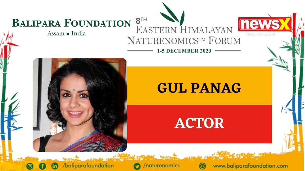 #EcologyIsEconomy  Join Actor Gul Panag (@GulPanag) at the virtual edition of 8th Eastern Himalayan Naturenomics Forum 2020, 1st-5th December, on #NewsX #EHNF2020 @naturenomics