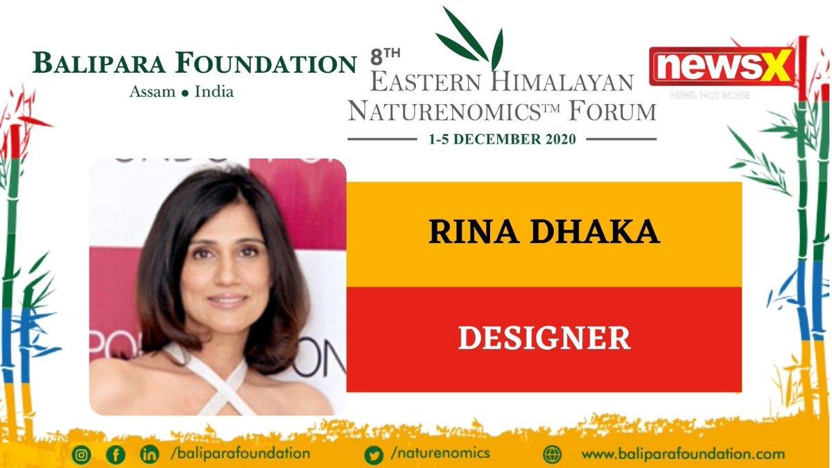 #EcologyIsEconomy  Join Designer Rina Dhaka (@rinadhaka) at the virtual edition of 8th Eastern Himalayan Naturenomics Forum 2020, 1st-5th December, on #NewsX #EHNF2020 @naturenomics