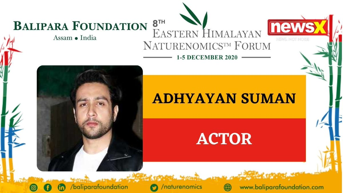 #EcologyIsEconomy  Join Actor Adhyayan Suman (@AdhyayanSsuman) at the virtual edition of 8th Eastern Himalayan Naturenomics Forum 2020, 1st-5th December, on #NewsX #EHNF2020 @naturenomics