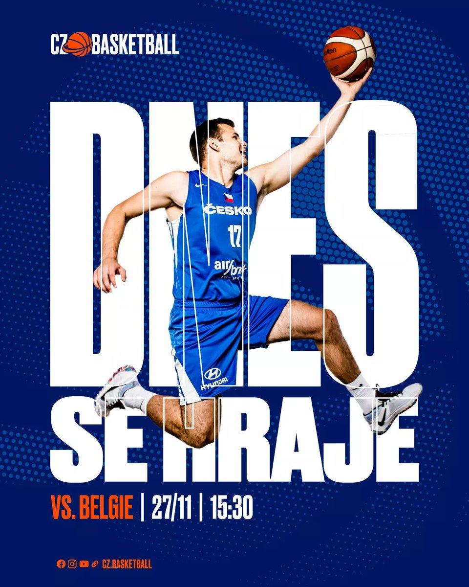 Od 15:30 uvidíte nejen létajícího Jaromír Bohačík. 🇨🇿 https://t.co/g0bKUj5xXJ vs. Basketball Belgium 🇧🇪 živě z Litvy na obrazovkách ČT sport. 🏀  #rvisejakolev #czbasketball #cesko https://t.co/rdXNvak0NA