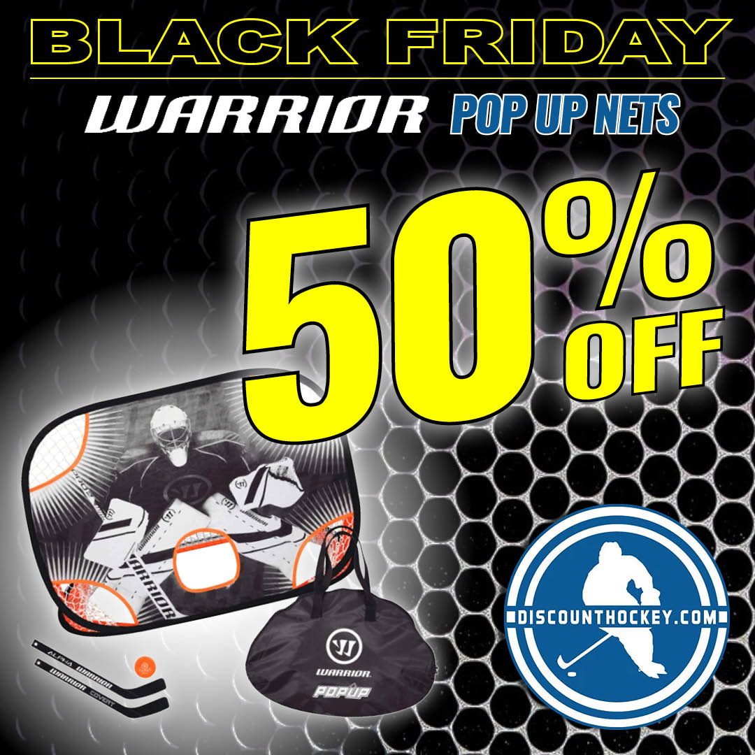 Practice for less with a Warrior Pop Up Net now 50% OFF. Get yours now - don't miss your shot:  https://t.co/DgO63IkVwE Follow us on social media or visit https://t.co/CRTf58Q21c today. #icehockey #hockey #blackfridaydeals #warriorhockey #blackfriday https://t.co/CRNc3yDAnr