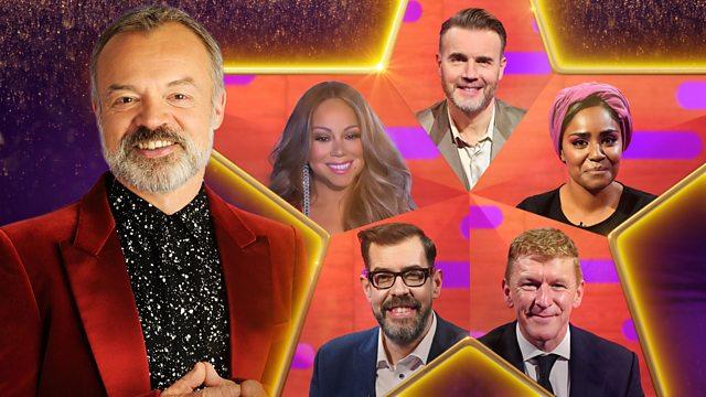 Tonight on #TheGNShow...  ✨@MariahCarey! ✨@BegumNadiya! ✨@astro_timpeake! ✨@richardosman! ✨@GaryBarlow!  #GrahamNorton | 10:45pm | @BBCOne & @BBCiPlayer.  👉