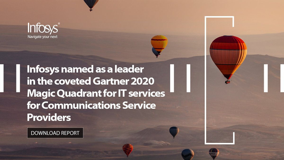 Infosys recognized as a 'Leader' in Gartner Magic Quadrant for IT Services for Communications Service Providers, Worldwide, 2020 validating our completeness of vision and ability to execute. Click here for more https://t.co/EDkGDswgQR #IT https://t.co/SGkIfp2zYA