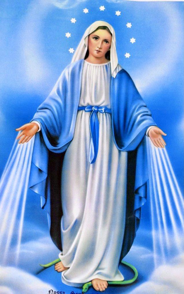 @Pontifex_es SANTA MARÍA Y MADRE MILAGROSA, Ruega Por Todos, Que Confiamos En Ti. #Oración