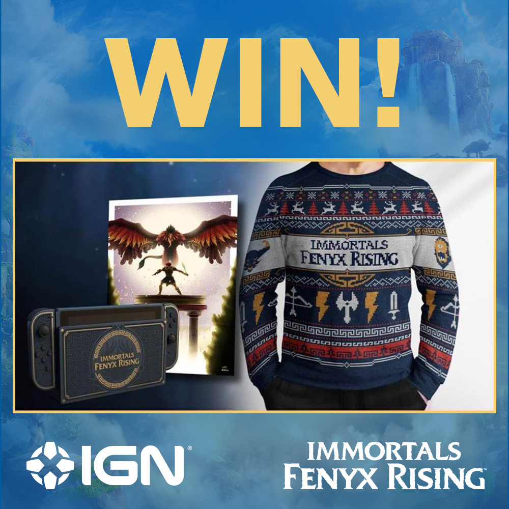 To celebrate the release of Immortals Fenyx Rising, RT for a chance to win an #ImmortalsFenyxRising Prize pack, including a Nintendo Switch Console and a copy of the game! #ImmortalsFenyxRisingIGNUK / UK 18+ #ad / T&Cs:bit.ly/2UGY4PI