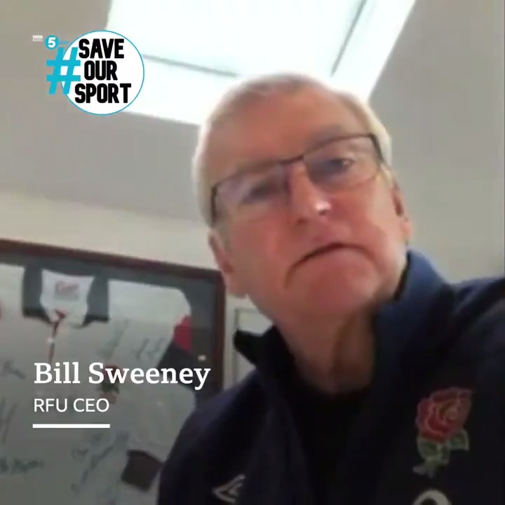 """""""If all team sports go back on December 2nd and Rugby Union is not a part of it - that's disastrous for us!"""" 🏉 As part of #SaveOurSport week, @EnglandRugby CEO Bill Sweeney tells @claremcdonnell1 he's worried about the future of grassroots rugby. 🎧@BBCSounds"""