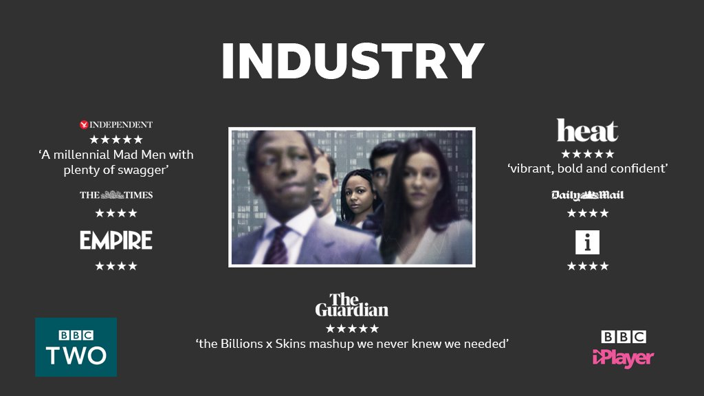 💷 'Millennial #MadMen', '#Billions meets #Skins' - watch the programme everyone's talking about. All episodes of #Industry available now on @BBCiPlayer and weekly on @BBCTwo: bbc.in/2V5i0vQ