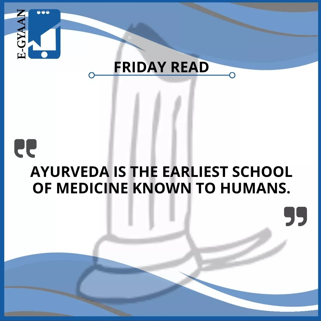 Replying to @EgyaanLearning: Ayurveda is the earliest school of medicine known to humans. #fridayread  #aestheticmedicine #homeschool #school #ayurvedaeveryday #humanity #fridayvibes #ayurvedalife #ayurvedafood #functionalmedicine #human #lifestylemedicine #after…