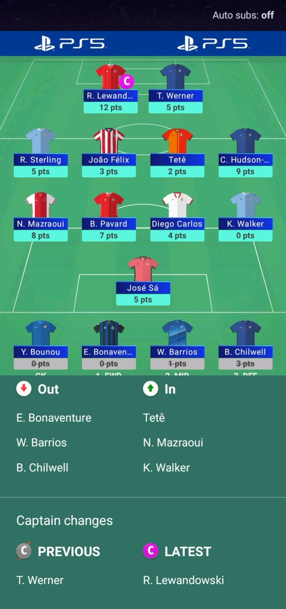 #UCLfantasy 2020-21 thread  GW4  Points: 60 OP: 272 OR: 27293⬇️  Another poor gw. CHO punt paid off nicely, need to push for the last two gw's.  We move.  #UCL https://t.co/LYPlKPkIRq