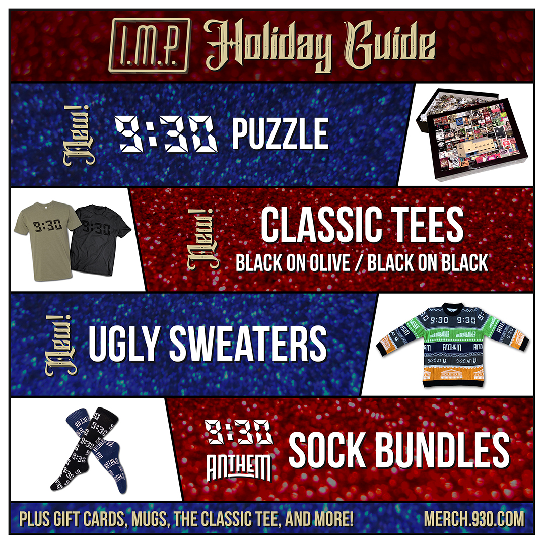 The 9:30 Club in D.C. is just one example of venue selling some great holiday merch. A perfect holiday gift for concert lovers!