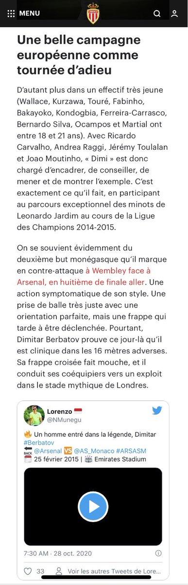 💯 Être mentionné par son club de cœur #DagheMunegu  ♥️ @AS_Monaco  ✍️