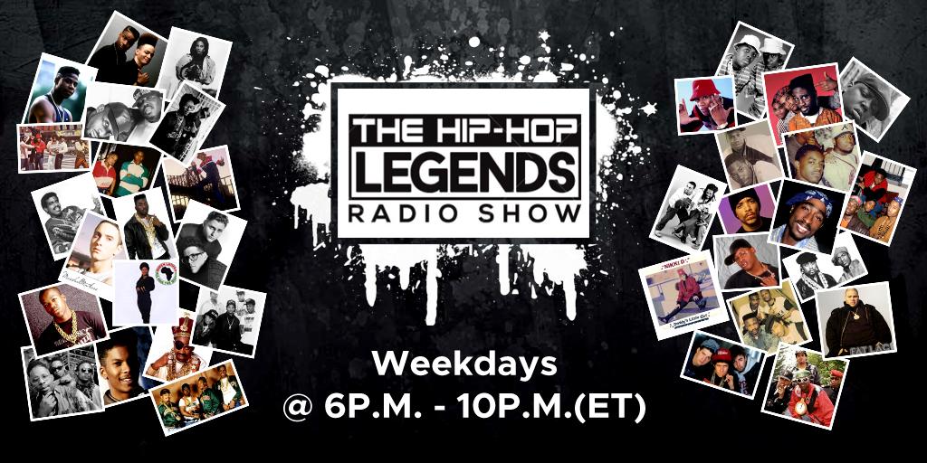 The Hip-Hop Legends Radio Show Monday-Friday @6p.m. #hiphop #rap #hiphoplegends #mysoulradio #classichiphop #oldschool https://t.co/uoS4414CRG