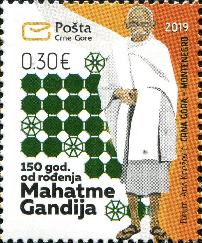 Mahatma Gandhi postal stamps were also issued by post offices in Montenegro and Poland.  Polish stamp worth 3.30 zloty was released in Sep 2019 and the one from Montenegro (€ 0.30) in Nov 2019.  #BetterPhila #Stamps19 #Gandhi150 #GandhiEncore #29