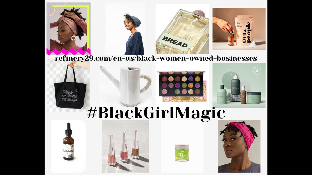 From #R29Unbothered: put your coins where your mouth is. They have rounded up a list of amazing businesses owned by Black women for you to support this #BlackFriday.  #BlackGirlMagic #SupportBlackWomen @Refinery29