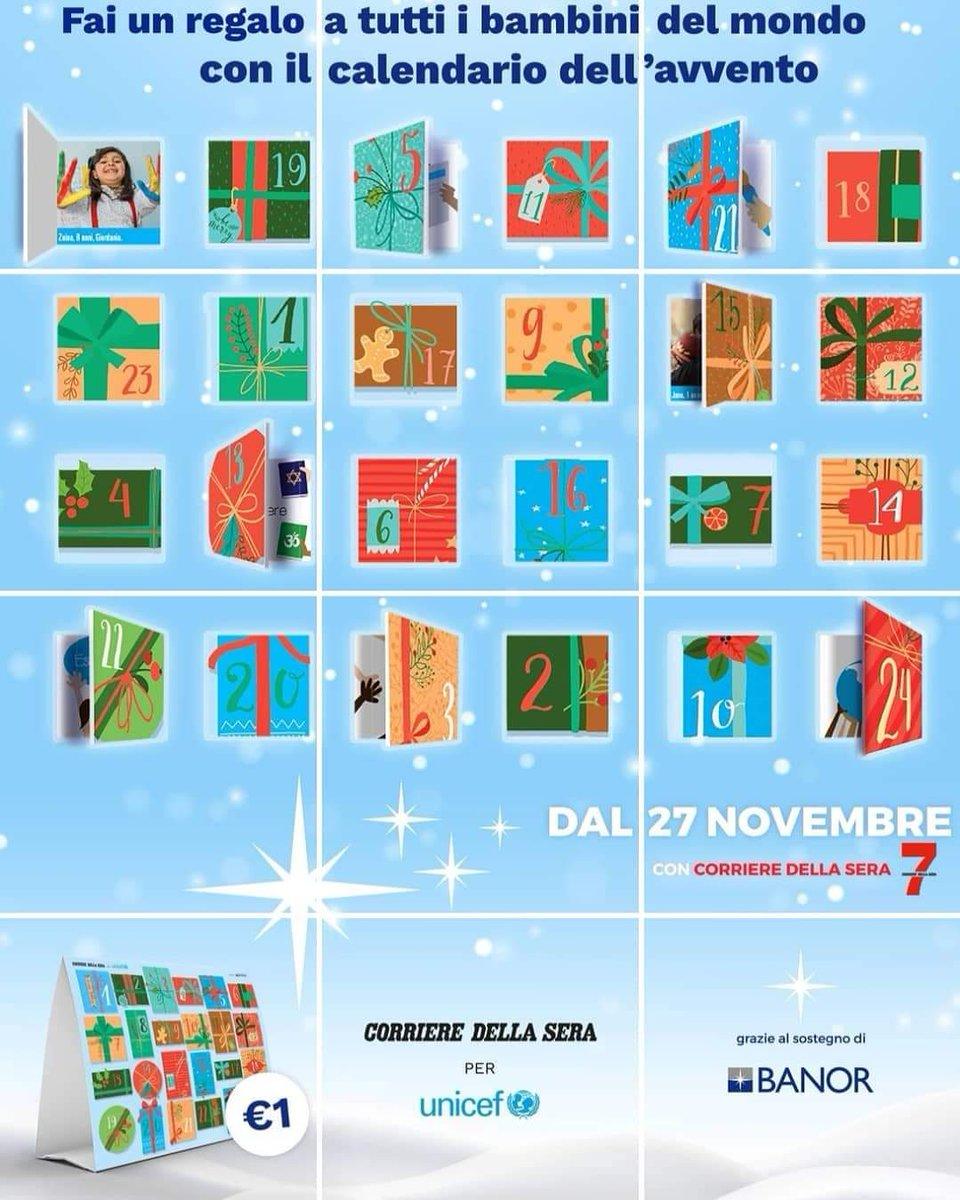 🔴🔵Il 27 Novembre in edicola, il #CalendariodellAvvento @BanorSim, insieme a @UNICEF_Italia con il @Corriere celebriamo i diritti dei bambini. Resterà disponibile in edicola per una settimana, con solo #1euro di contributo.🔴🔵 https://t.co/X9odcNynNA