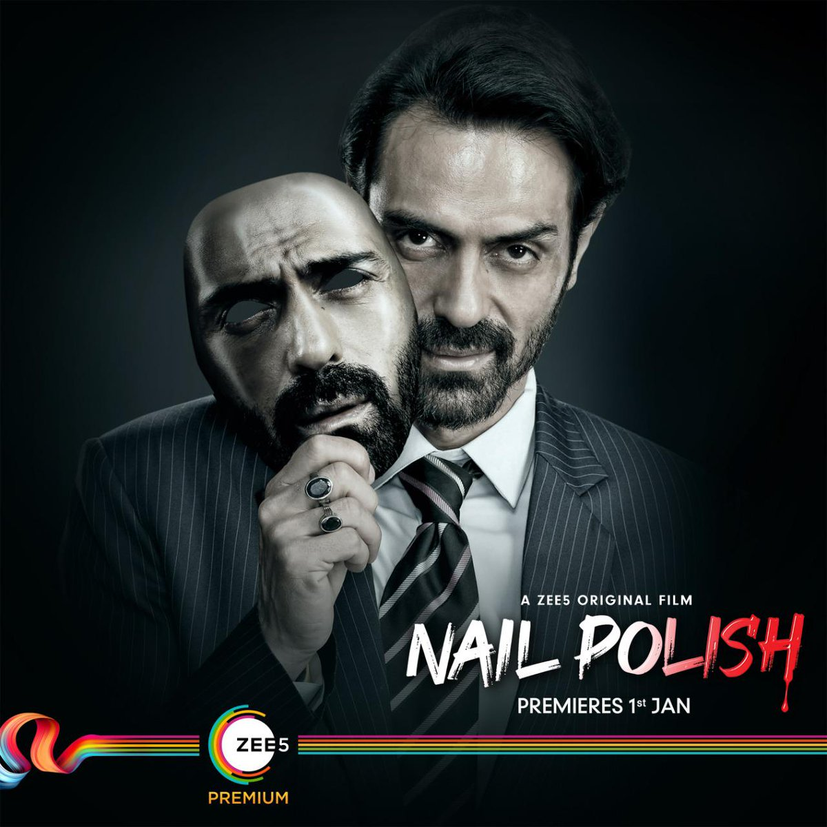 Here's a look at the latest poster of #ArjunRampal from #Nailpolish. The film will premiere on 1st January 2021 on @ZEE5Premium @ZEE5India @rampalarjun