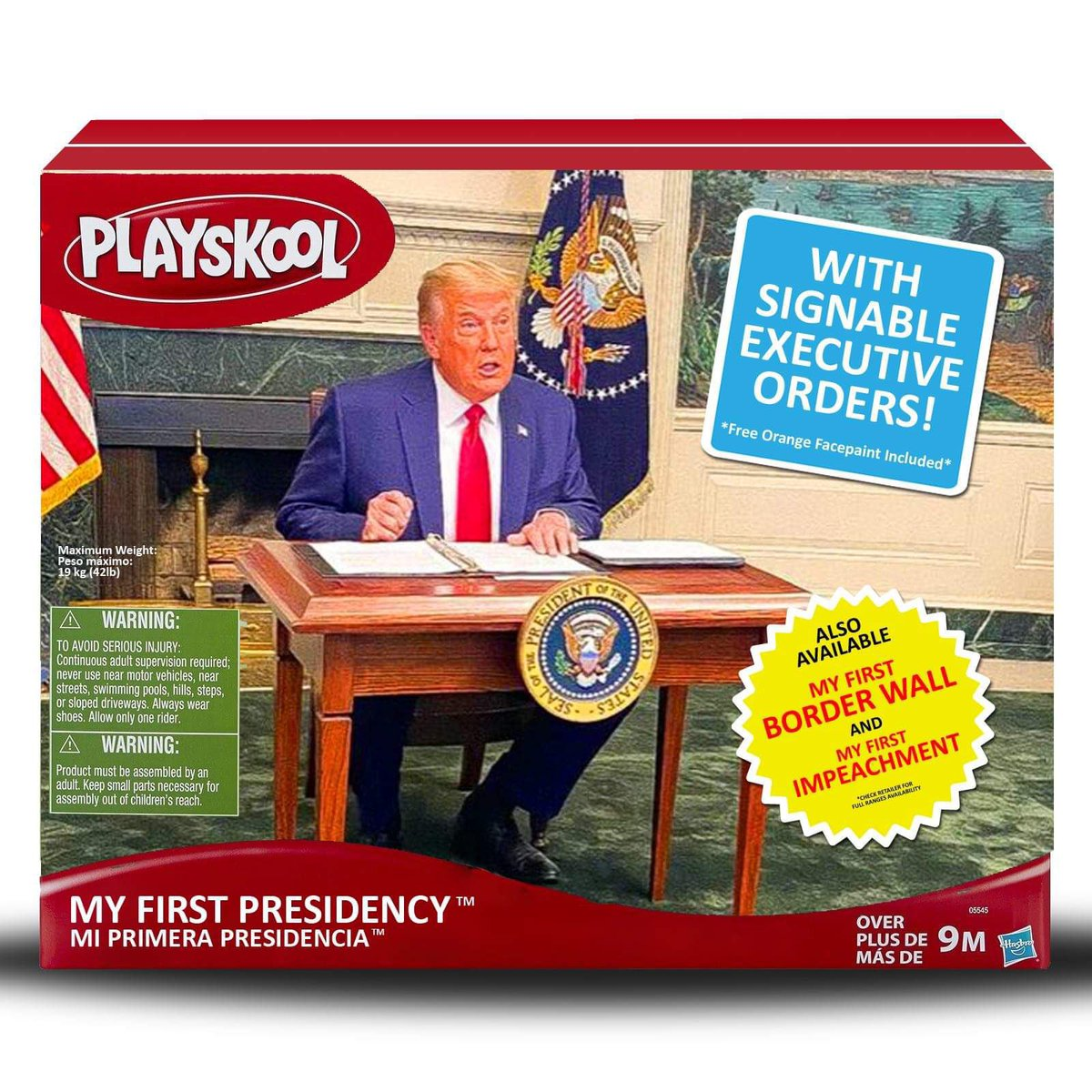 BREAKING: New for the Holidays.   Your child too can poo poo while signing executive orders with an imaginary sharpie!   The Diaper Don Oval Office Playset.    #DiaperDon