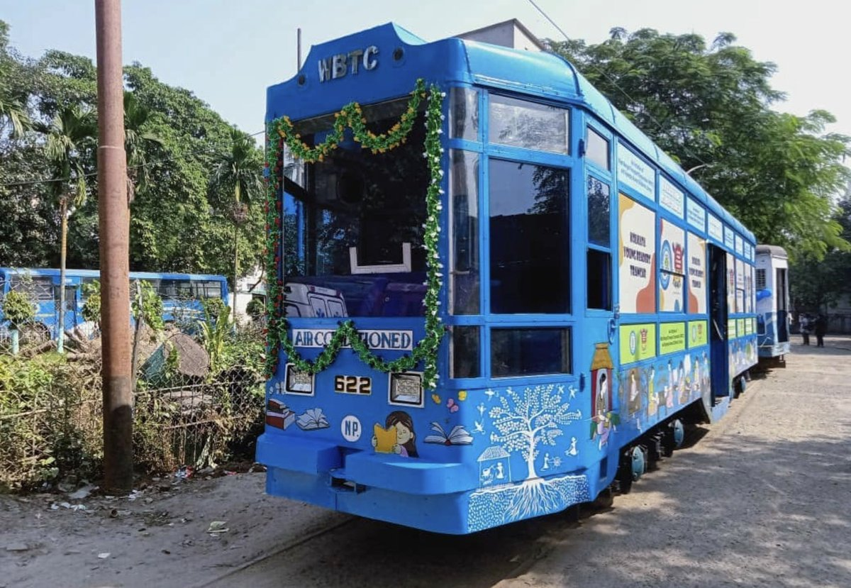 The first-ever children's tram library is being launched giving access to children to read their favorite book while on the move. A concept like this could have happened only in a culturally rich city like Kolkata!