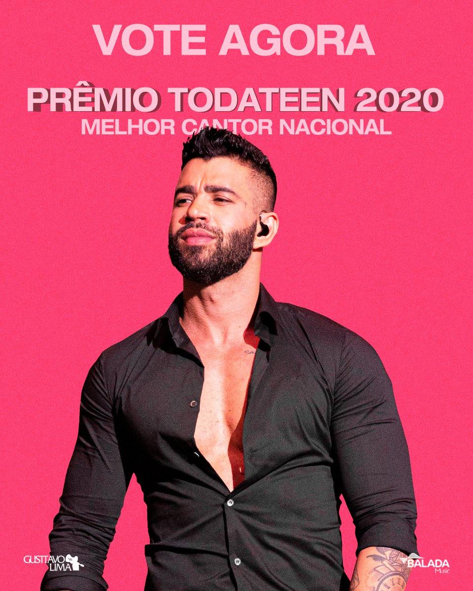 """O Embaixador foi indicado no Prêmio Toda Teen 2020 na categoria """"Melhor Cantor Nacional"""".😍 As votações vão até o dia 16/12, link com todas as premiações que ele está concorrendo:   #PremioTodateen2020  #GusttavoLima"""