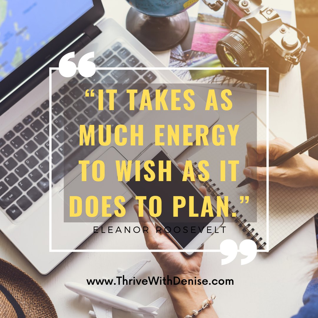 Now is a good time to stop wishing and start planning! Shift your energy to get your desired results! #FridayThoughts #FridayInspiration #Success #Growth #Thrive #Empowerment #WomenEmpowerment #Coaching #CoachDenise #DeniseWilliams #ThriveWithDenise