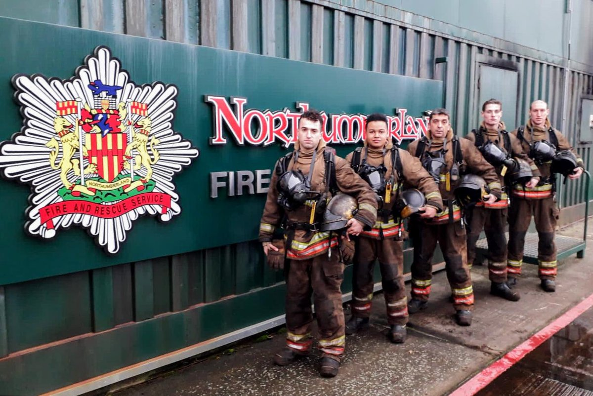 Congratulations to our five new oncall firefighters, who successfully passed their breathing apparatus phase today. They now move from learning and development to their station areas, serving at Berwick, Bellingham, Ponteland, Hexham and  Rothbury. #oncall #congrats