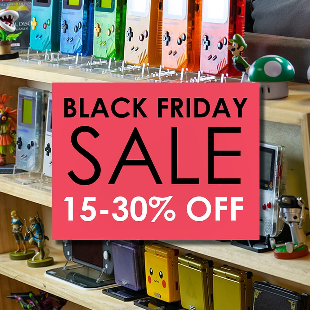 Now through December 1st take 15 to 30% off everything in the store! https://t.co/Nghy64NUQZ #gaming #retrogaming #nintendo #nintendolife #gamerlife #videogames #videogamecollection #gameandwatch #games #Switch #gameboy #snes #geek #geek #gameroom #gamer #ps5 #retrogamer #nerd https://t.co/8Epou5imqf