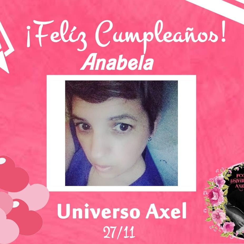 🌺 Feliz cumple Anabela 🌺 A celebrar la vida!!!  Que tengas un hermoso día!! 😘  #GelizCumple #CelebraLaVida #UniversoAxel  @axeloficial
