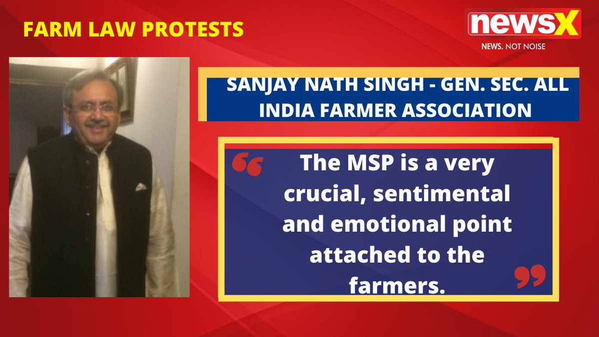 #DiliChaloProtests | But why should be they stopped. The MSP is a very crucial, sentimental and emotional point attached to the farmers. : Sanjay Nath Singh - Gen. Sec. All India Farmer Association (@SanjayNathSing2) on #NewsX  @malhotravineet7